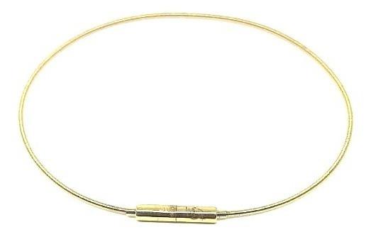 Pulseira Corda De Violão Em Ouro 12x Sem Juros Frete Grátis
