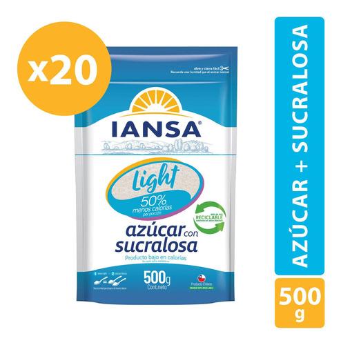 Azúcar Light Con Sucralosa Iansa 500g Pack 20 Unidades