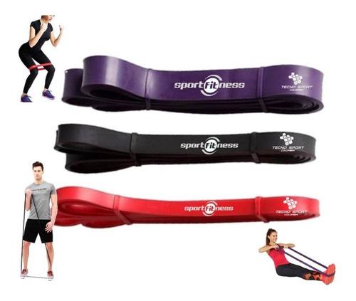 Kit 3 Pzs Banda Poder Elástica Sportfitness Tonificacion Gym