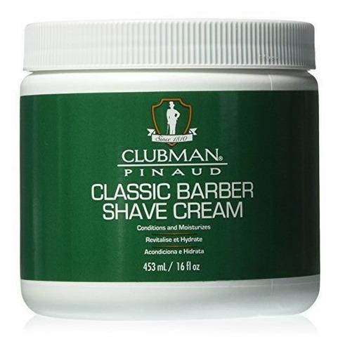 Clubman Classic Barber Shave Cream, 16 Onzas