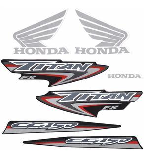 Kit Adesivos Honda Titan 150 2007 Es Preta