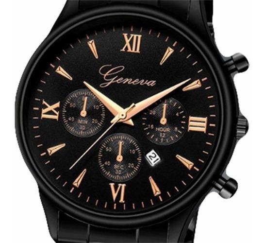 Relógio Geneva Masculino Jbrl Modelo Clássico | Promoção