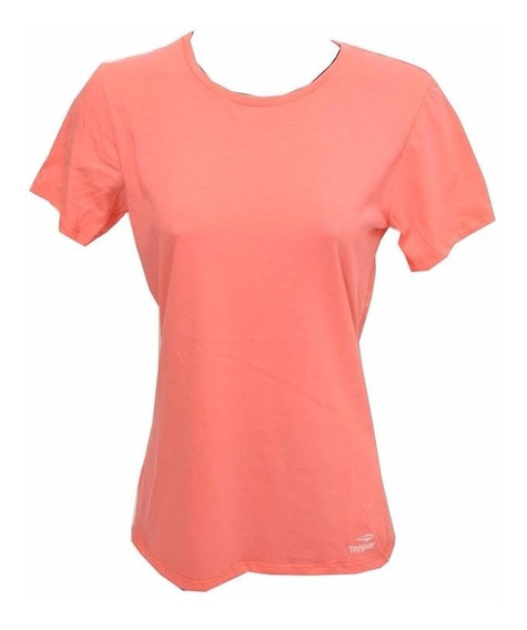 Remera Topper T-shirt Básica Mujer Coral