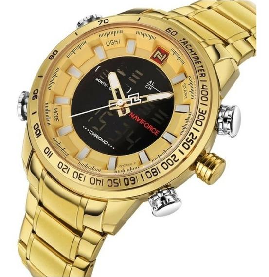 Relógio Naviforce Modelo 9093 Dourado