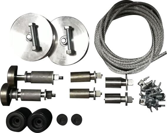 Kit Portão Basculante 4 Polegada Complet C/cabo De 1/4 6,2mm