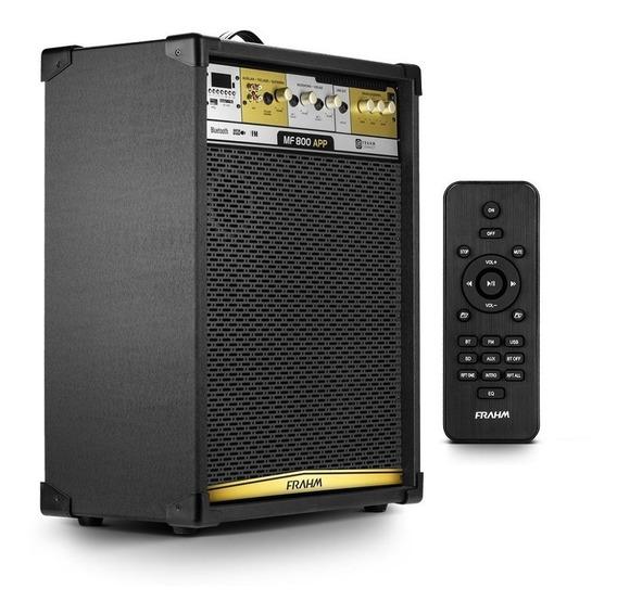 Caixa Som Multiuso Mf800 Bluetooth Usb Controle Remoto Frahm