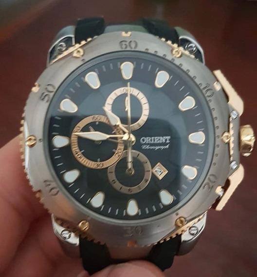 Relógio Orient Titânio Pulseira Silicone Mttpc001
