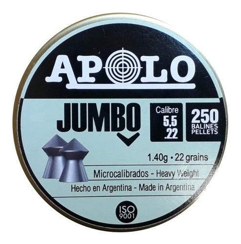 Balines Apolo Jumbo 5.5 X 250 Peso: 1,40grs 22g Dogohunter