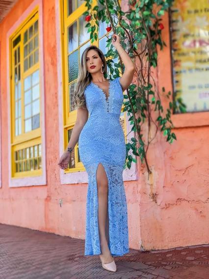 Vestido Longo Em Renda, Festa 2019