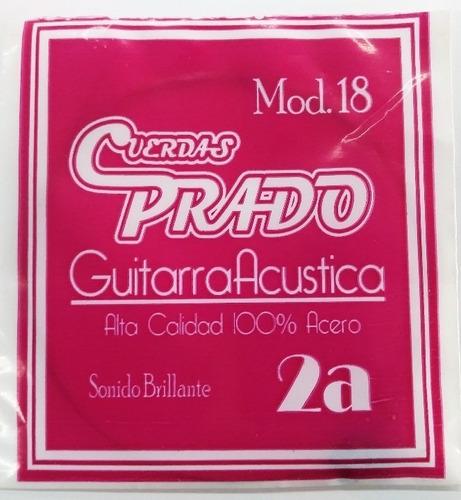 Imagen 1 de 1 de Cuerda 2 A Para Guitarra Acus. Prado (paquete 10 Pzas)