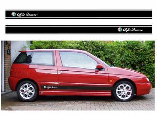 Adesivo Emblema Faixa Alfa Romeo 145 Lateral Imp1