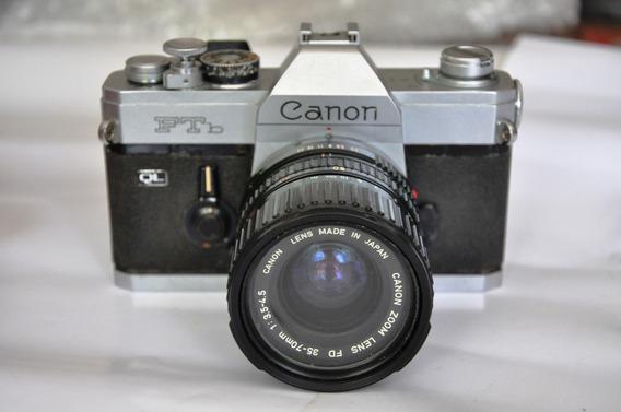 Câmera Canon Ftb Analógica C/lente 35-70mm Em Ótimo Estado!