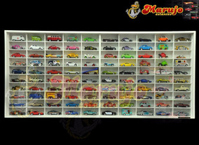 Estante Miniaturas Hot Wheels 100 Nichos Com Portas