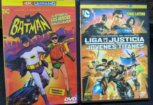 Imagen 1 de 10 de Batman, Superman, Hulk, Películas Animadas En Dvd