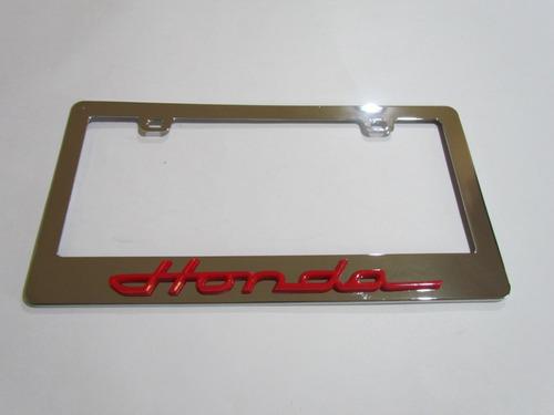 Imagen 1 de 6 de Porta Placas Portaplacas Honda Civic Accord Crv Hrv City 2