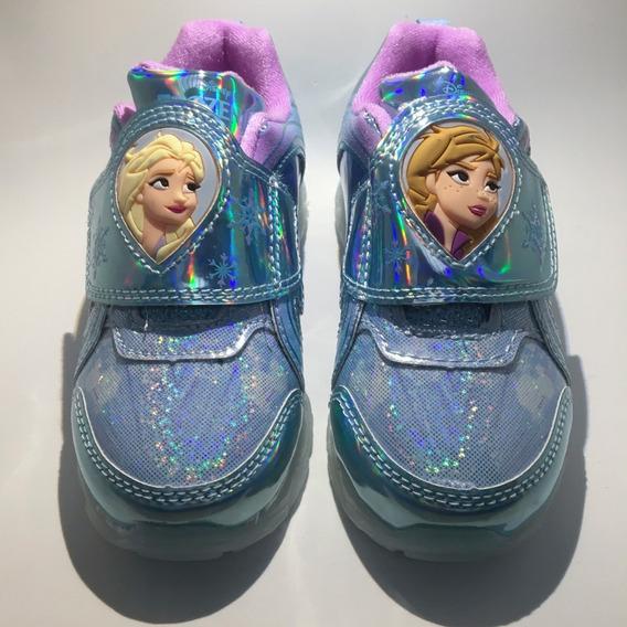 Tênis Infantil Frozen 2 Led Meninas Original Eua