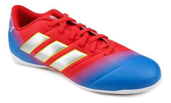 Chuteira Futsal adidas Nemeziz Messi 18.4 Masc - Azl/vrm