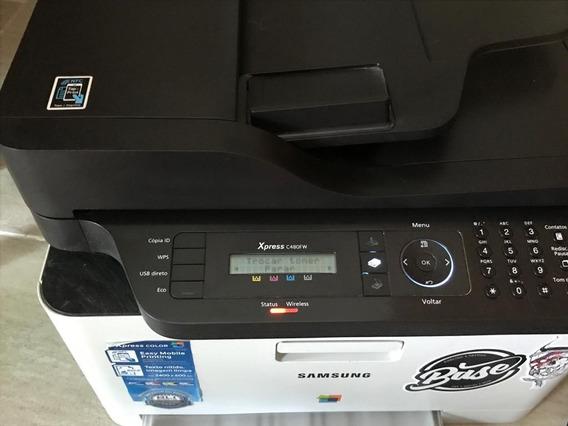 Impressora Samsung Laser Color C480fw Wireless Usada