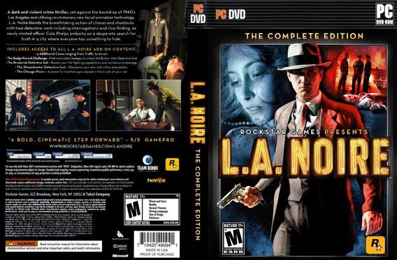 L.a Noire Pc (mídia Física)