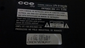 Notebook Cce Lpv-d10h120 Core 2 Duo Com Defeito