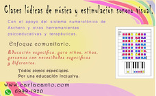 Clases Lúdicas De Música Y Estimulación Sonoro Visual.