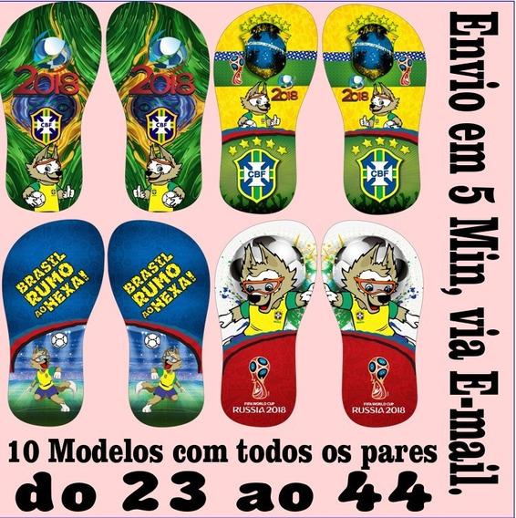 Estampas Chinelos Da Copa Do Mundo 2018 Em Pdf E Cdr