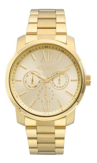 Relógio Euro Feminino Dourado Fashion Eu6p29agutd/4d