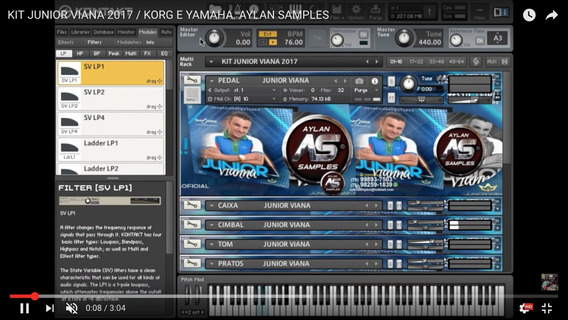 Kit Samplea Junior Viana 2017 Aylan Samples Yamaah E Korg