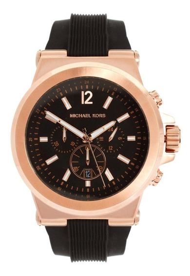 Relógio Michael Kors Mk8184 Orig Chron Anal Gold Rose!!