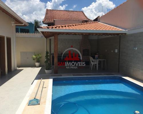 Imagem 1 de 30 de Casa Alto Padrão Com 4 Dormitórios No Jardim Flórida Praia Grande - Ca00313 - 69235877
