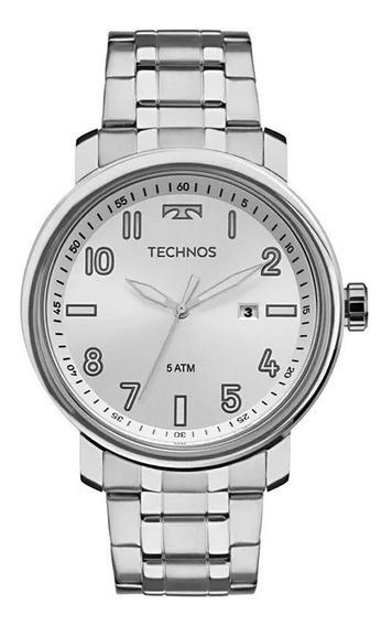 Relógio Technos Masculino Analógico 2115mnh/1k Prata