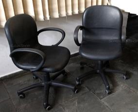 Cadeira Escritório Poltrona Giratória Reunião Flexform Couro
