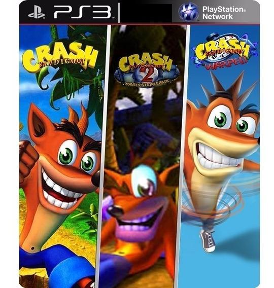 Crash Bandicoot 1 2 3 Trilogia - Jogos Ps3 Playsation 3