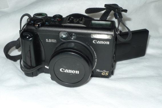 Câmera Semi Profissional Canon G5 Com Defeito Leia Tudo!