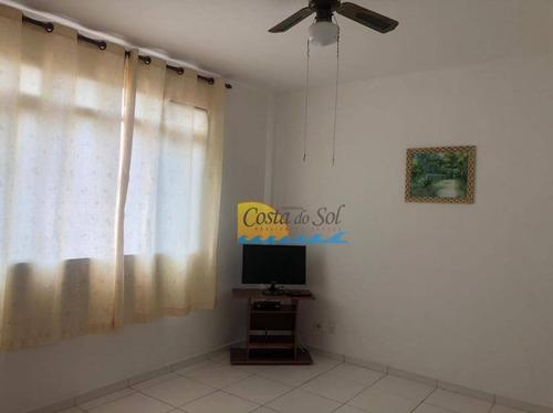 Imagem 1 de 13 de Apartamento Com 1 Dormitório À Venda, 66 M² Por R$ 160.000,00 - Vila Guilhermina - Praia Grande/sp - Ap15720