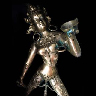 Escultura De Bronce Diosa Dakini Del Budismo Tibetano Grande