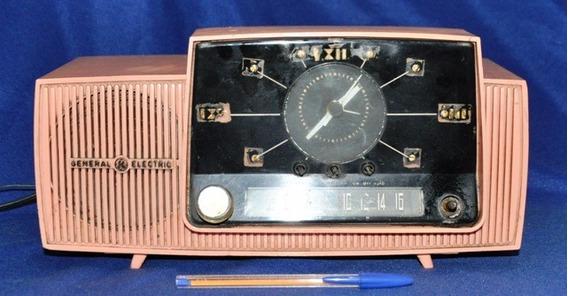 Antigo E Raro Rádio Relógio Valvulado General Eletric