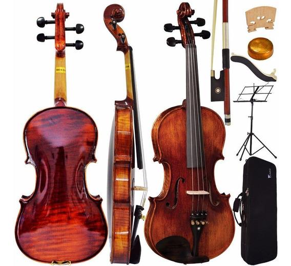 Kit Violino Profissional Vk544 4/4 Eagle Com Estante
