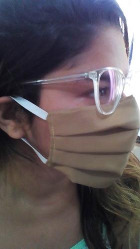 7 Máscaras De Dupla  Proteção Não Descartável Com Elástico