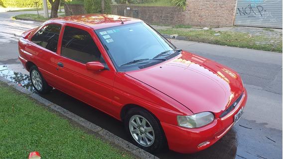 Ford Escort Coupe Lx 1998 Rojo.titular Al Dia.