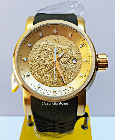Relógio Invicta S1 12790 Yakuza Gold 18k Novo Original Top