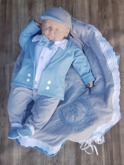 Saída De Maternidade Menino Personalizada Luxo Lançamento
