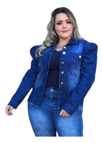 Jaqueta Jeans Feminina Cropped Plus Size