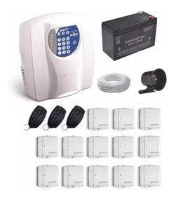 Kit Alarme Residencial Genno Com 13 Sensor Magnético Sem Fio
