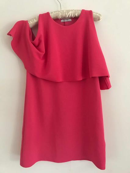 Vestido Zara Rosa. Talle M/l Muy Poco Uso