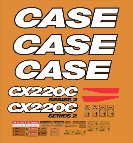 Kit Adesivo Completo Escavadeira Case Cx220c Cx 200c Mk