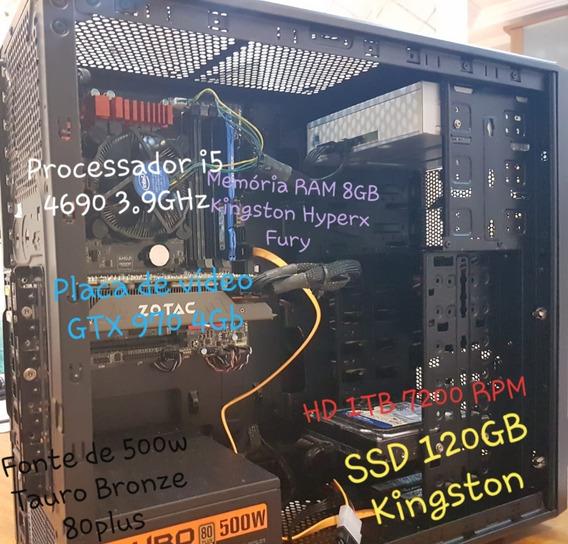 Computador I5 4690 | 8gb Ram | Gtx 970 | Ssd E Hd