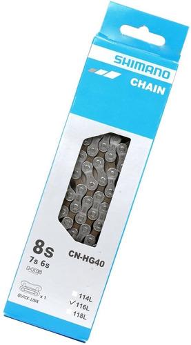 Imagen 1 de 1 de Cadena Shimano Hg40 C/ Missing Link Para 6, 7 Y 8v - Ciclos