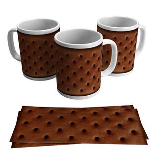 Caneca Porcelana Estampa Divertida Biscoito De Chocolate