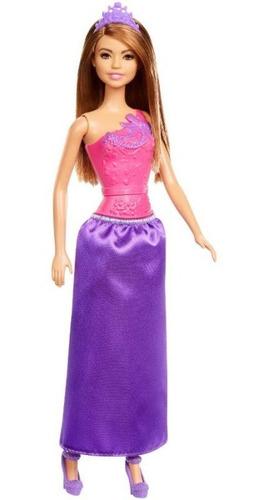 Imagen 1 de 2 de Barbie Princesa 30cm Mattel Dmm06 Basica Surt